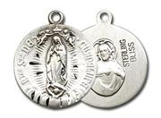 Our Lady of Guadalupe Sterling Silver Medal