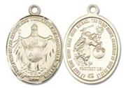 Jesus King of All Nations 14 Karat Gold Medal Large