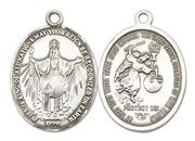 Jesus King of All Nations Sterling Silver Medal Large